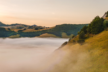 Beautiful landscapes Umbii, Castelluccio di Norcia, Italy