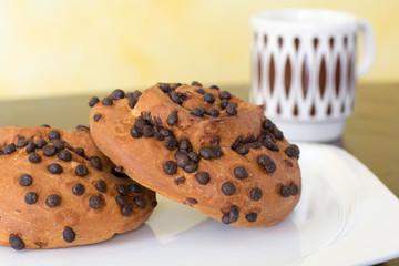 Chocolate brioche buns