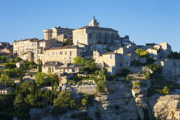 View of famous Gordes medieval village