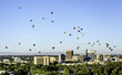 Unique view of Boise Idaho with Hot Air Balloons