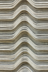 The stack of gypsum board preparing for construction, background