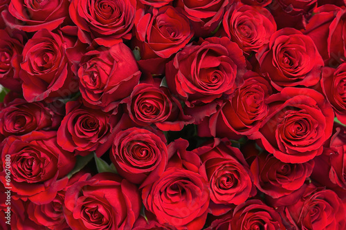 Fotobehang Bloemen Colorful flower bouquet from red roses for use as background.