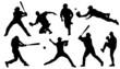 baseball sihouettes - 69671209