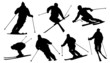 ski silhouettes - 69671236