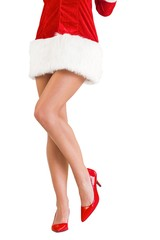 Lower half of sexy santa girl