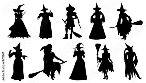 witch silhouettes - 69671247