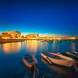 canvas print picture - Ibiza island night view
