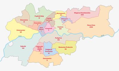 Krakau, Verwaltungsgliederung, Stadtteile