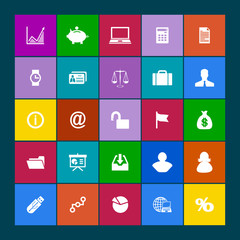 Web icons set. Metro style
