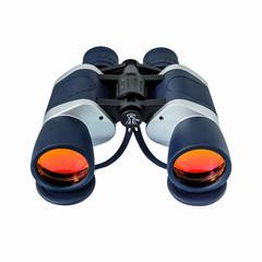 binoculars with orange lens