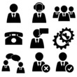 business man icons set pack