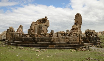 Church ruins in city of Ani, Turkey