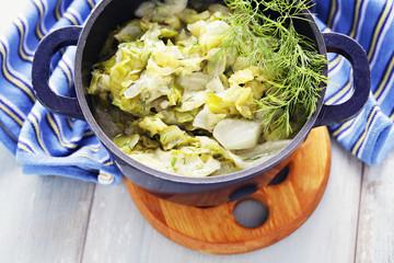 stew cabbage