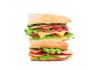 Two fresh sandwiches.