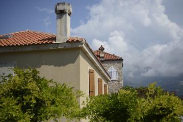 Building in Citadel, old town, Budva, Montenegro