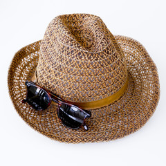 sunprotection objects sunglasses and hat