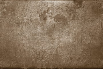 old shabby skin of dark brown color with gloss