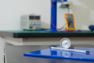 Thermometers used in electrical laboratory