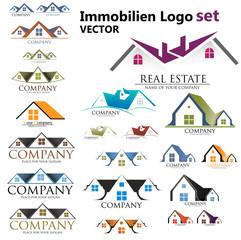 Immobilien Logo set, Haus