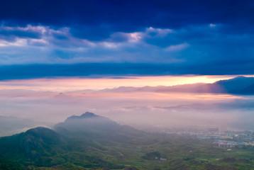 fog and cloud