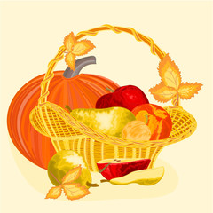 Fruit celebratory  christmas thanksgiving celebration vector