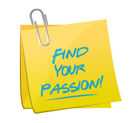 find your passion memo illustration