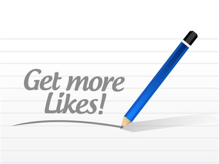 get more likes message illustration