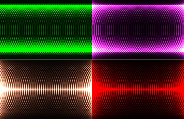set of abstract illustration splash color glowing background