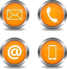 Kontakt Buttons orange