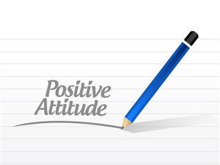 positive attitude message illustration