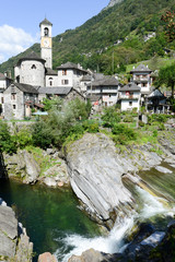 The rural village of Lavertezzo on Verzasca valley