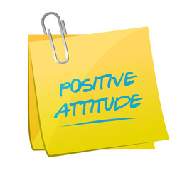 positive attitude memo illustration design