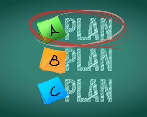 plan a selection illustration design