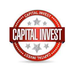 capital investment seal illustration design