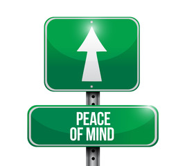 peace of mind sign illustration design