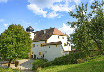 The main courtyard of the Castle Aufsess or also Unteraufsess