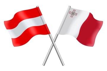 Flags: Austria and Malta