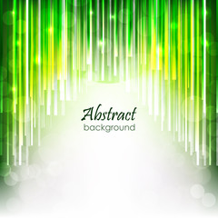 Abstract vector background with green glossy lines
