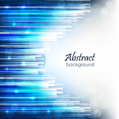 Abstract vector background with blue glossy lines