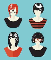 Woman avatar set