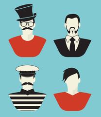 Hipster avatar set