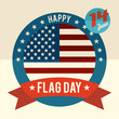 Flag Day of united states flat design card