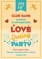 Love dating party flyer