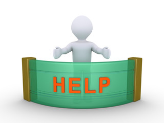 Person is providing help