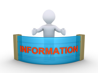 Person is giving information