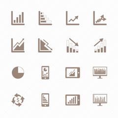 Business Graph icon set
