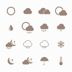 Icon set of weather