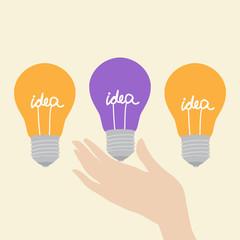 Choosing the creative idea