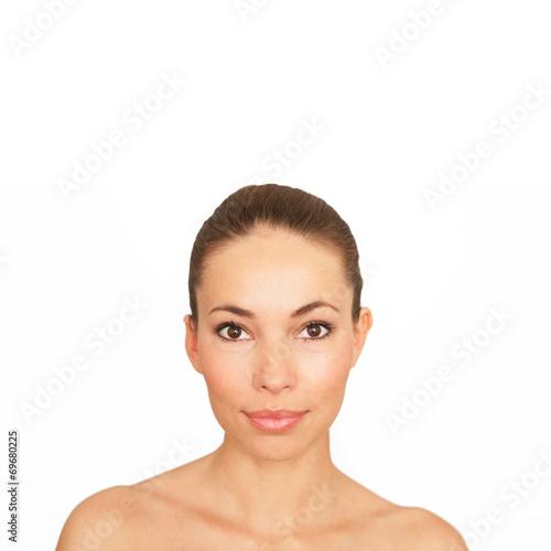 canvas print picture Gesicht einer jungen Frau