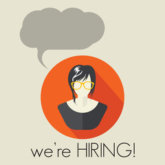 We are hiring woman with cloud speech